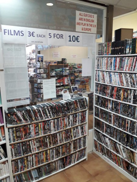 Over 1000 dvd films and box sets all in English. Exchange welcome.